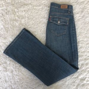 Levi Perfectly Slimming Boot Cut Jeans 4 Short